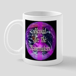 Planet Earth Peace Symbol Mug