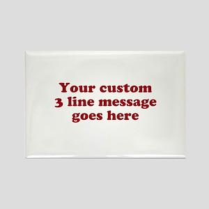 Three Line Custom Message Magnets