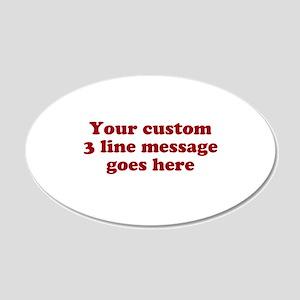 Three Line Custom Message Wall Decal