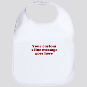 Three Line Custom Message Bib