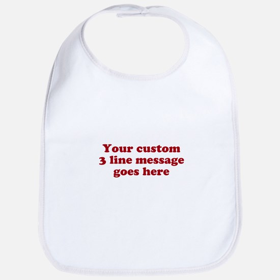 Three Line Custom Message Bib