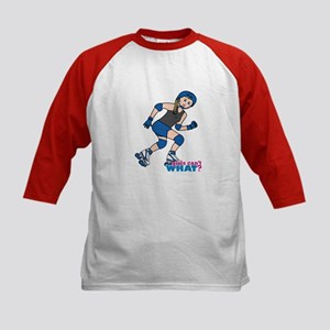 Roller Derby Girl Light/Blonde Kids Baseball Jerse