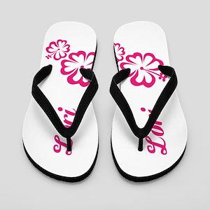f58857bfec0f Custom Name Pink Hibiscus Hawaii Dream Flip Flops
