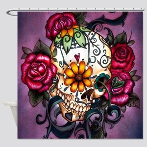 Sugar Skulls Shower Curtains