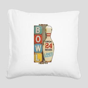 Bowling Pin Square Canvas Pillow