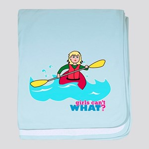 Girl Kayaking Light/Blonde baby blanket