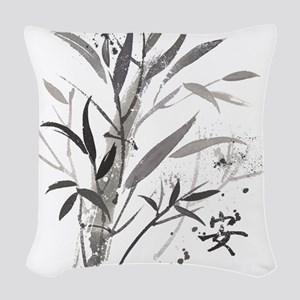 Bamboo Garden Woven Throw Pillow