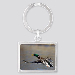duck in flight Landscape Keychain