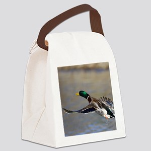 duck in flight Canvas Lunch Bag