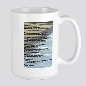Footprints In The Sand Large Mug
