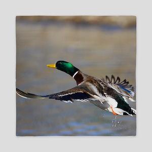 duck in flight Queen Duvet