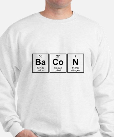 Bacon Periodic Table Element Symbols Sweatshirt