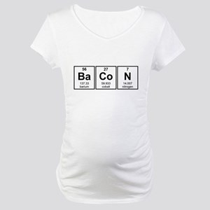 Bacon Periodic Table Element Symbols Maternity T-S