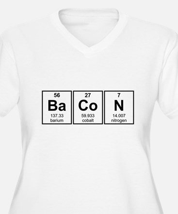 Bacon Periodic Table Element Symbols Plus Size T-S