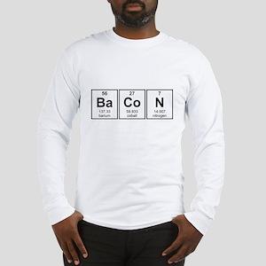 Bacon Periodic Table Element Symbols Long Sleeve T