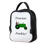 Green Tractor Junkie Neoprene Lunch Bag