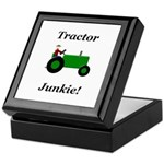 Green Tractor Junkie Keepsake Box