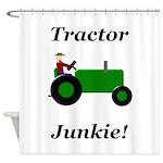 Green Tractor Junkie Shower Curtain