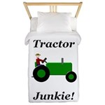 Green Tractor Junkie Twin Duvet