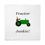 Green Tractor Junkie Queen Duvet