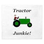 Green Tractor Junkie King Duvet