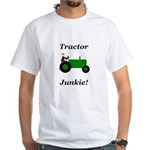 Green Tractor Junkie White T-Shirt