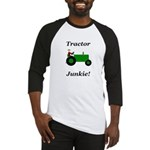 Green Tractor Junkie Baseball Jersey
