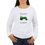 Green Tractor Junkie Women's Long Sleeve T-Shirt