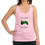 Green Tractor Junkie Racerback Tank Top