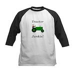 Green Tractor Junkie Kids Baseball Jersey