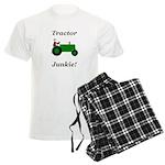Green Tractor Junkie Men's Light Pajamas