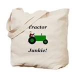 Green Tractor Junkie Tote Bag