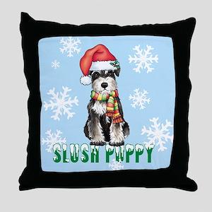 Holiday Miniature Schnauzer Throw Pillow