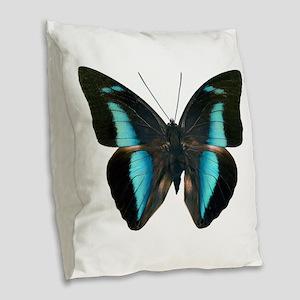 ARCHAEOPREPONA AMPHIMACHUS D Burlap Throw Pillow