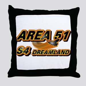 Area 51 & S4 Dreamland Throw Pillow