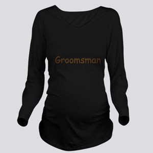 grooms-man,brown Long Sleeve Maternity T-Shirt