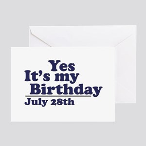 28th birthday greeting cards cafepress july 28 birthday greeting cards pk of 10 bookmarktalkfo Gallery