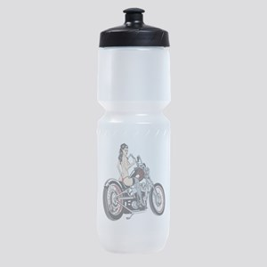 bikerbabe2 Sports Bottle