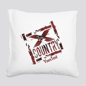 Customize - X Country Grunge Square Canvas Pillow