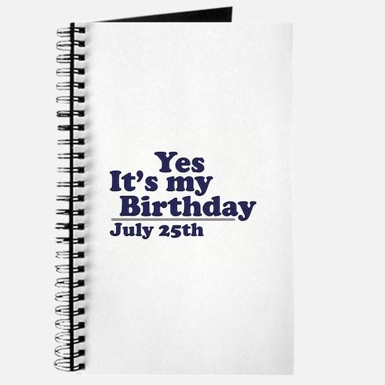 July 25 Birthday Journal