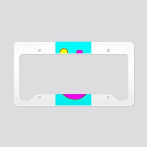 Sailboat Moon Turquoise 4Mike License Plate Holder