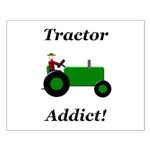 Green Tractor Addict Small Poster