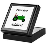 Green Tractor Addict Keepsake Box