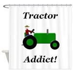 Green Tractor Addict Shower Curtain