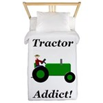 Green Tractor Addict Twin Duvet