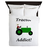 Green Tractor Addict Queen Duvet