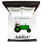 Green Tractor Addict King Duvet
