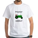 Green Tractor Addict White T-Shirt