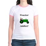 Green Tractor Addict Jr. Ringer T-Shirt