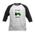 Green Tractor Addict Kids Baseball Jersey